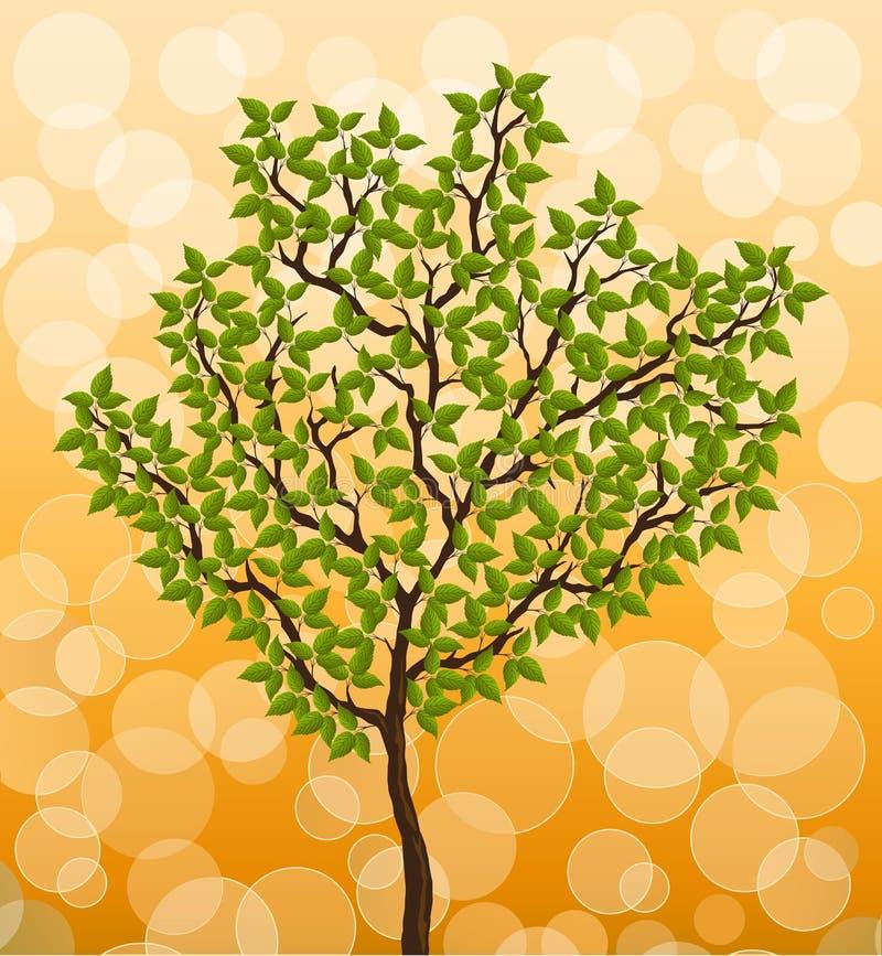 Abstrakter Hintergrund mit einem Baum lizenzfreie abbildung