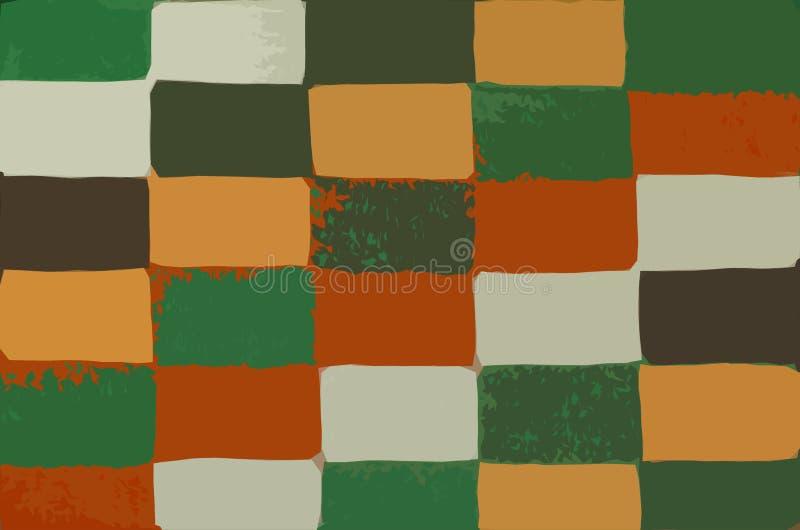 Abstrakter Hintergrund mit einem bunten rechteckigen Muster stockbild