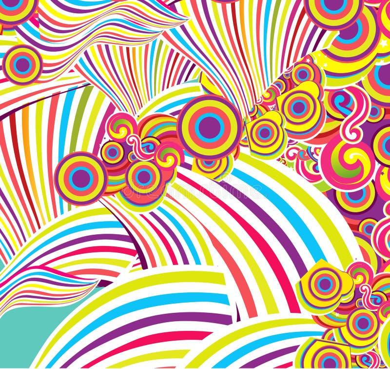 Abstrakter Hintergrund mit einem Muster stock abbildung