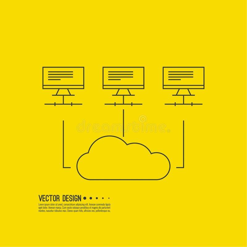 Abstrakter Hintergrund mit einem Netzwerk-Server vektor abbildung