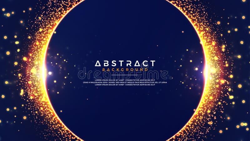 Abstrakter Hintergrund mit einer Kombination von Unschärfe bokeh Effekten Abstrakter glühender Partikelkreishintergrund Vektor Ep vektor abbildung