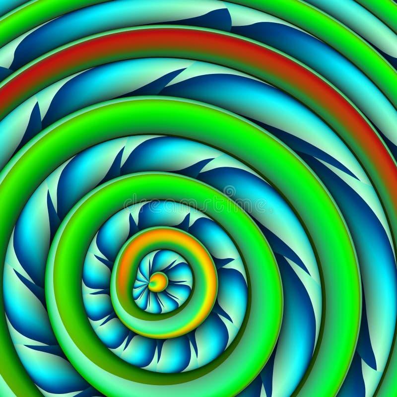 Abstrakter Hintergrund mit Farb-concetric Kunststoffr?dern stockfotografie