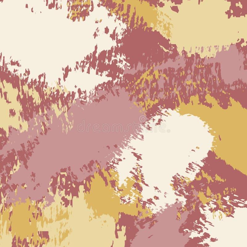 Abstrakter Hintergrund mit Farbenflecken, B?rste streicht und befleckt stock abbildung