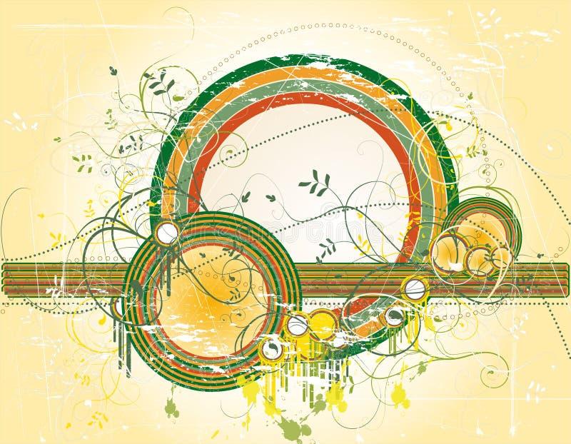 Abstrakter Hintergrund mit Farbenformen vektor abbildung