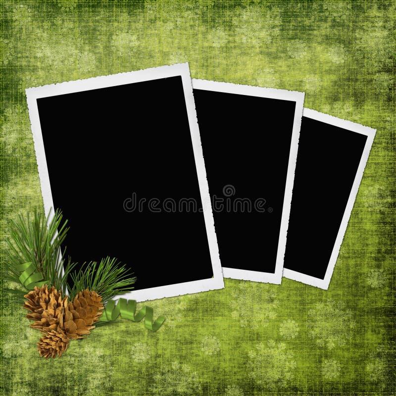 Abstrakter Hintergrund mit Feldern und pinecones lizenzfreie abbildung