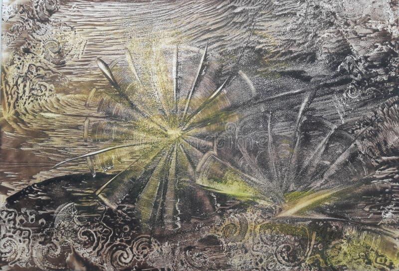 Abstrakter Hintergrund mit gelben Blumen stockbild