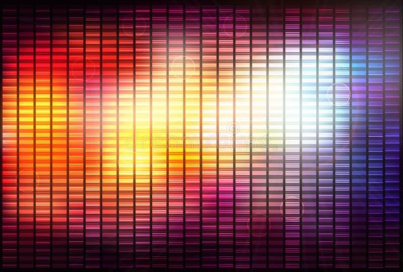 Abstrakter Hintergrund mit glänzenden Linien lizenzfreie abbildung