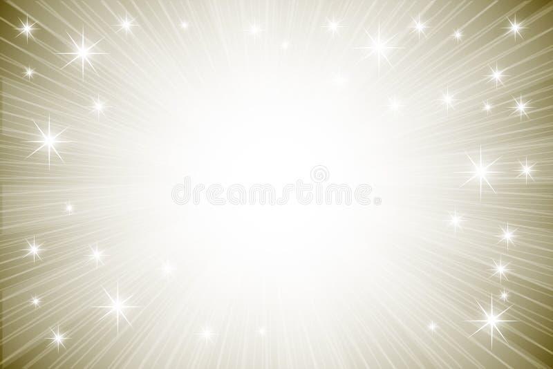 Abstrakter Hintergrund mit glänzenden Sternen vektor abbildung