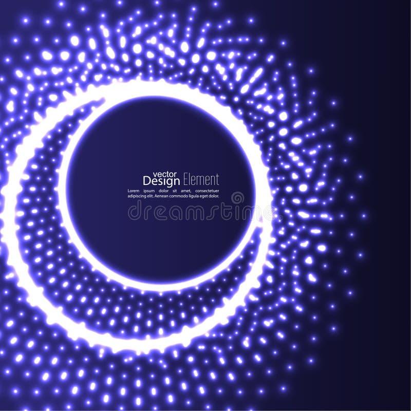 Abstrakter Hintergrund mit glühenden Kreisen lizenzfreie abbildung