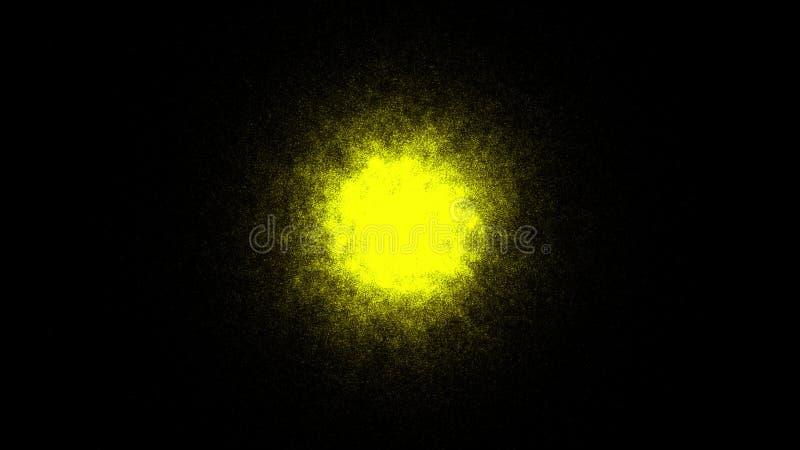 Abstrakter Hintergrund mit Goldbereich Sandeffekt lizenzfreie abbildung