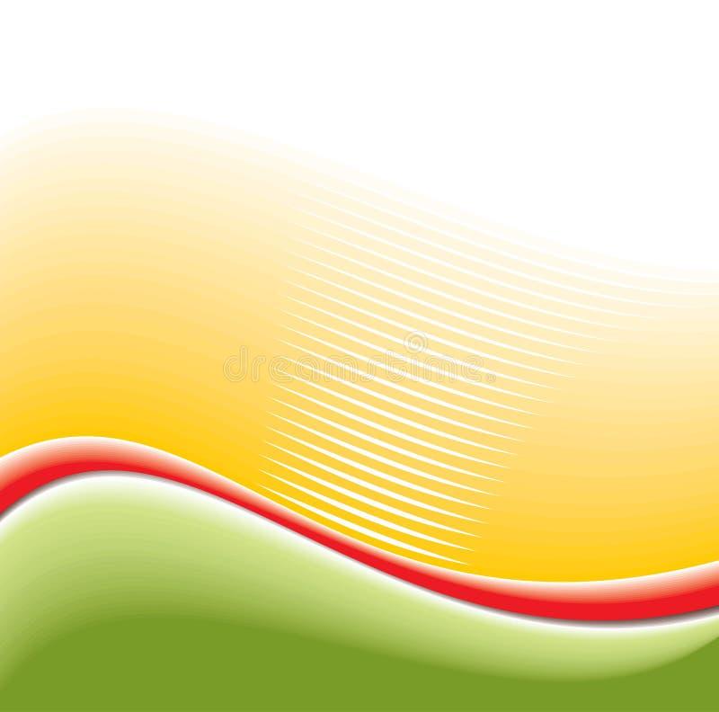 Abstrakter Hintergrund mit grünen Wellen vektor abbildung