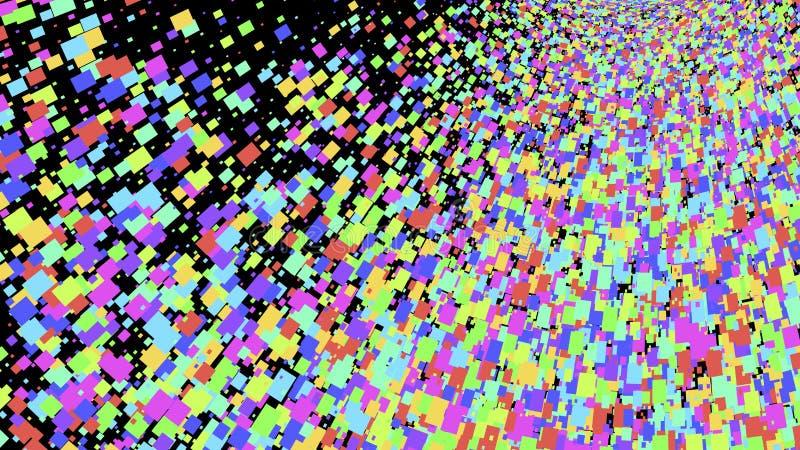 Abstrakter Hintergrund mit großem Bildschirm, Vektor lizenzfreie abbildung