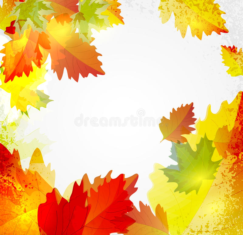 Download Abstrakter Hintergrund Mit Herbstblättern Vektor Abbildung - Illustration von abstraktion, schlaufe: 26363436