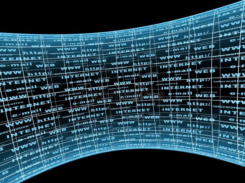 Abstrakter Hintergrund mit Internet-Symbolen vektor abbildung