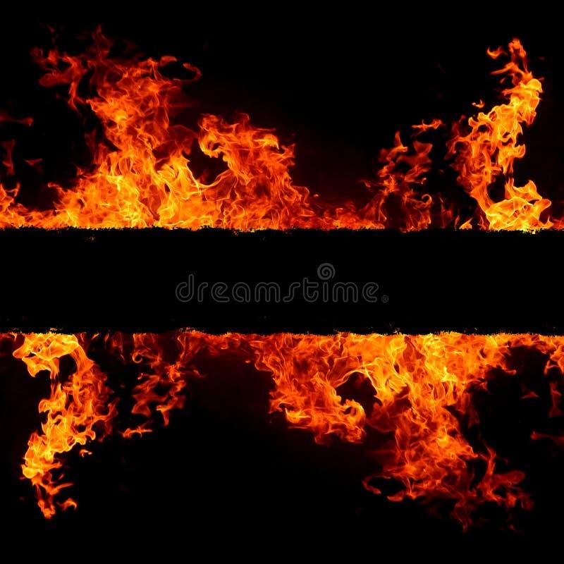 Abstrakter Hintergrund mit klaren heißen Feuerflammen vektor abbildung
