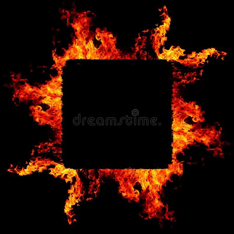 Abstrakter Hintergrund mit klaren heißen Feuerflammen stock abbildung