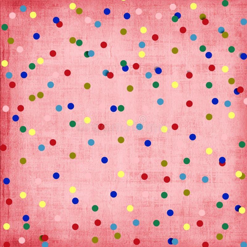 Abstrakter Hintergrund mit Konfettis für Feiertagseinladungen vektor abbildung