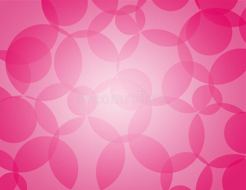 Abstrakter Hintergrund mit Kreisen in der magentaroten Farbe ganz über der Oberfläche stock abbildung