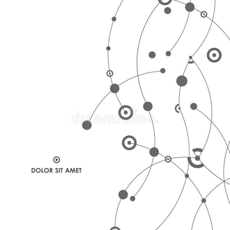 Abstrakter Hintergrund mit Linien und Punkten Kreatives Design für Ihr stockfotografie