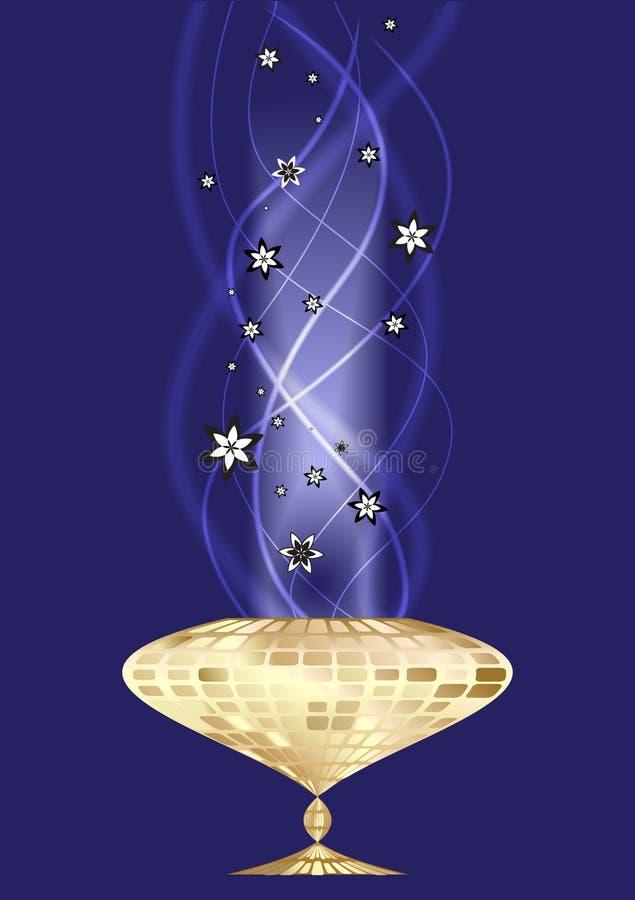 Abstrakter Hintergrund mit magischem Cup stock abbildung