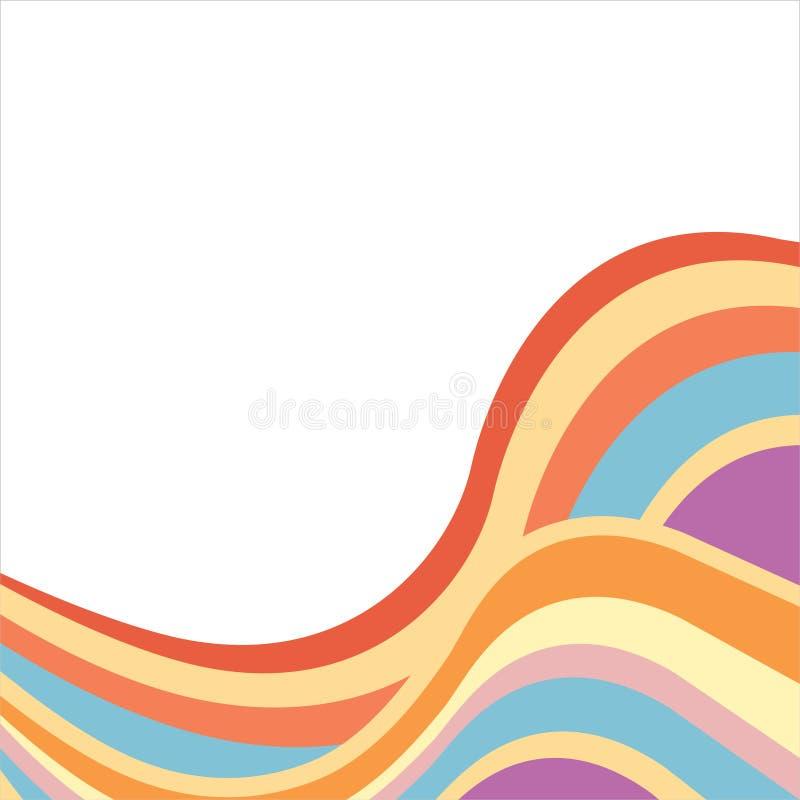 Abstrakter Hintergrund mit mehrfarbigen Wellen stock abbildung
