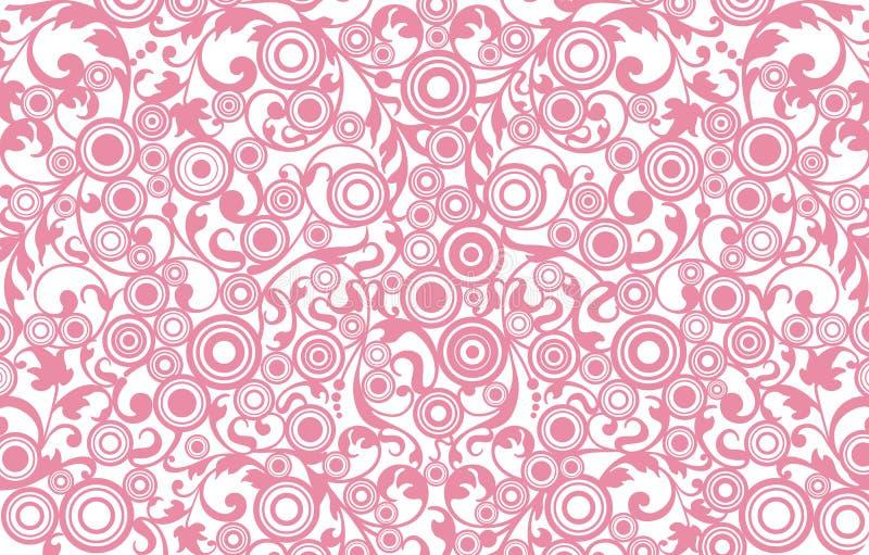 Abstrakter Hintergrund mit mit Filigran geschmückter Verzierung vektor abbildung