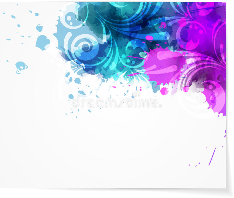 Abstrakter Hintergrund mit modernem swirly Design vektor abbildung