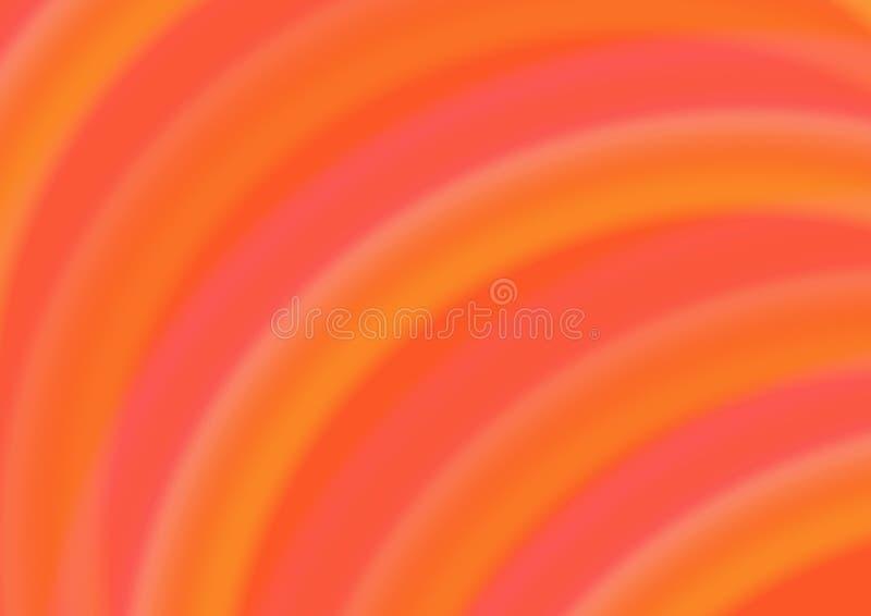 Abstrakter Hintergrund mit orange Halbrunden lizenzfreie abbildung