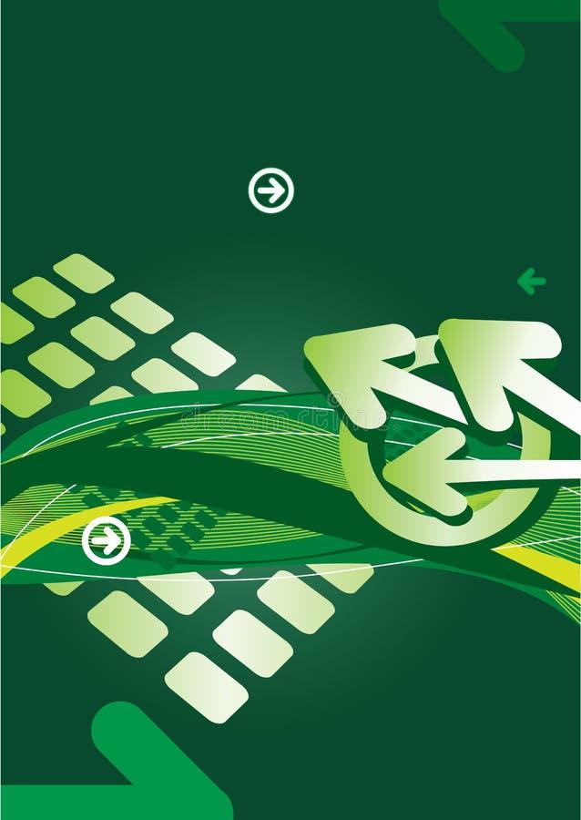 Abstrakter Hintergrund mit Pfeilen und Zeilen stock abbildung