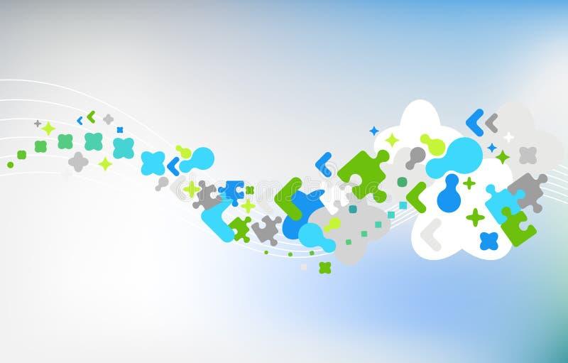 Abstrakter Hintergrund mit Puzzlespiele stock abbildung