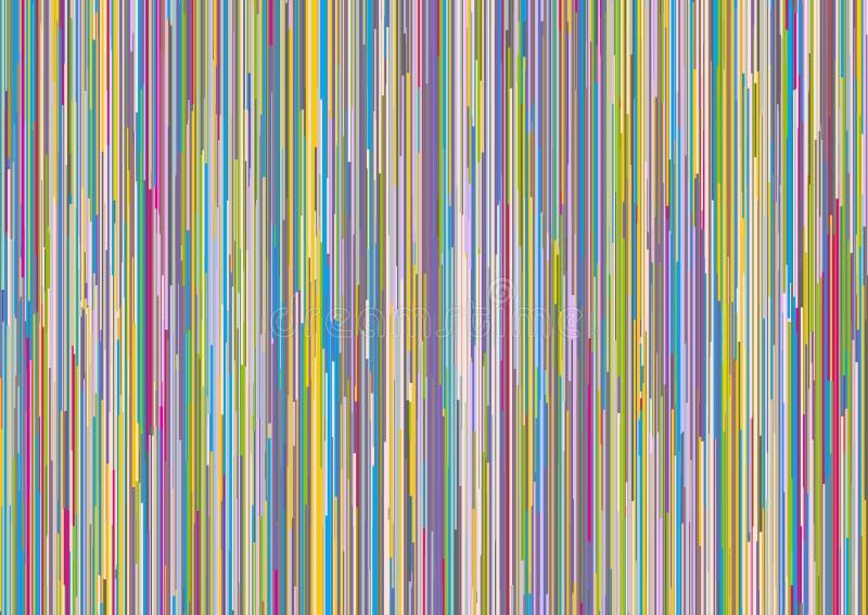 Abstrakter Hintergrund mit Retro- farbigen Streifen lizenzfreie abbildung