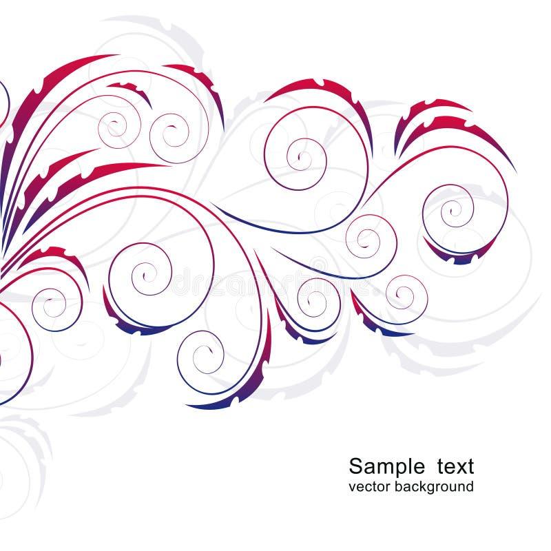Abstrakter Hintergrund mit Rotationen. vektor abbildung