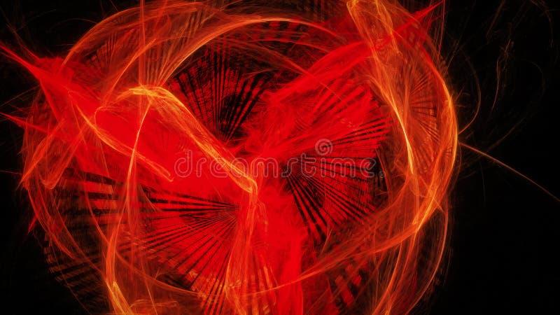 Abstrakter Hintergrund mit rotem glühendem fenix lizenzfreie abbildung