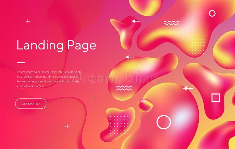 Abstrakter Hintergrund mit schöner flüssiger Flüssigkeit für Kosmetiksahneplakate, Geschäftsplakate, Abdeckungen und Broschüren vektor abbildung