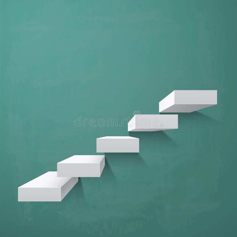 Abstrakter Hintergrund mit Schritten stock abbildung
