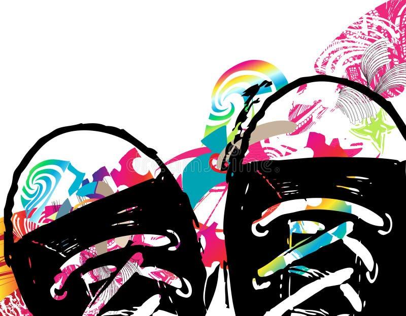 Abstrakter Hintergrund mit Schuhen lizenzfreie abbildung