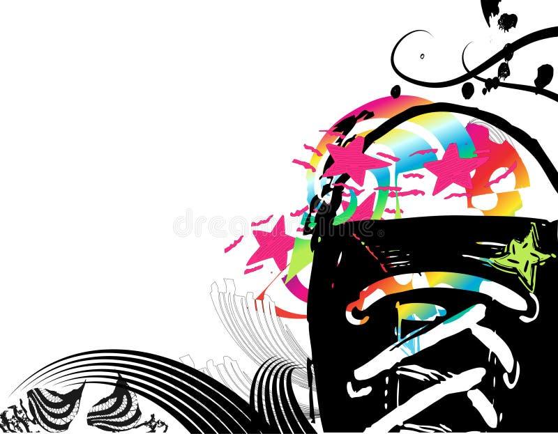 Abstrakter Hintergrund mit Schuhen vektor abbildung
