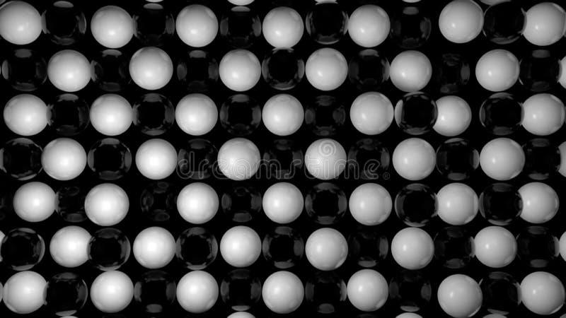 Abstrakter Hintergrund mit Schwarzweiss-Bereichen stockbild