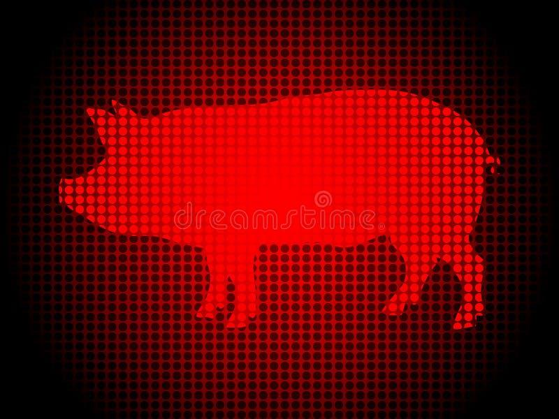 Abstrakter Hintergrund mit Schwein in der Frontseite stock abbildung