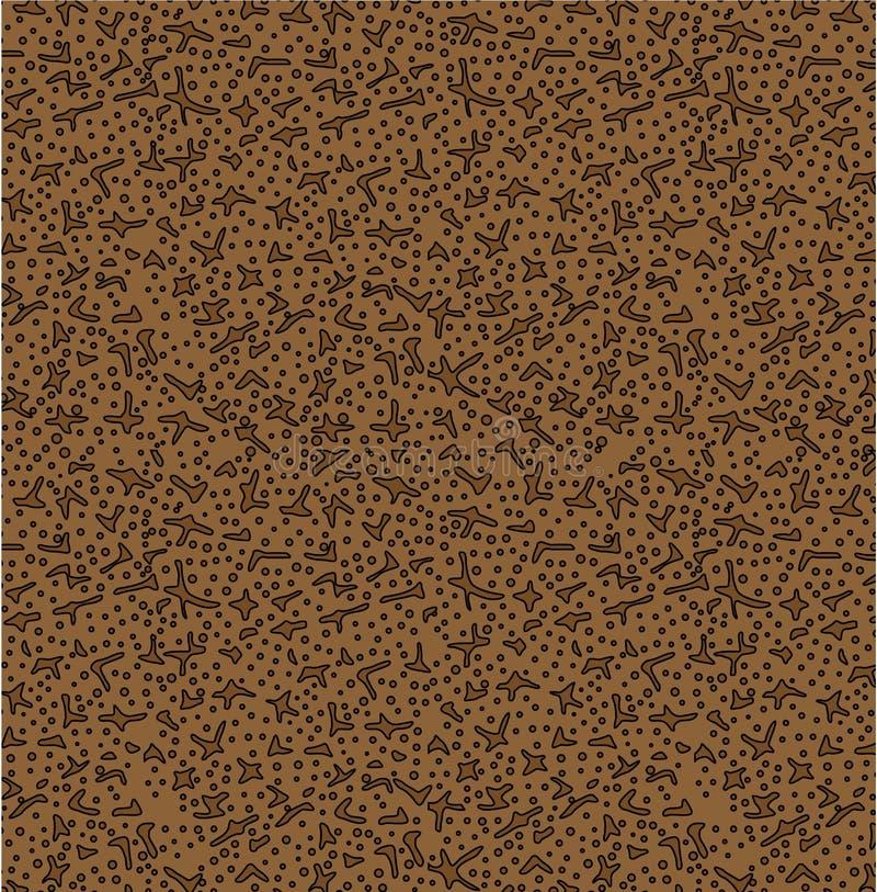 Abstrakter Hintergrund mit Streifentischdecke befleckt Braun stock abbildung