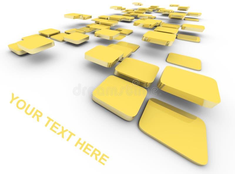 Abstrakter Hintergrund mit Text stock abbildung