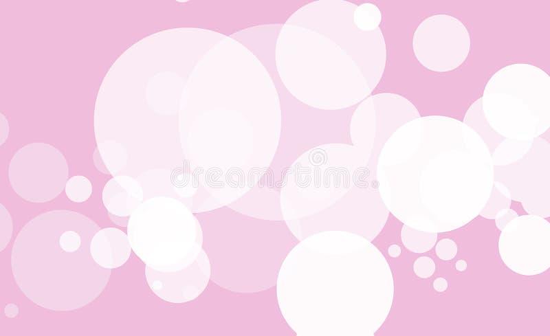 Abstrakter Hintergrund mit weißem bokeh Effekt Schablone von Lichtern für den Gruß, Einladungskarte, Fahne und Plakat zu stock abbildung