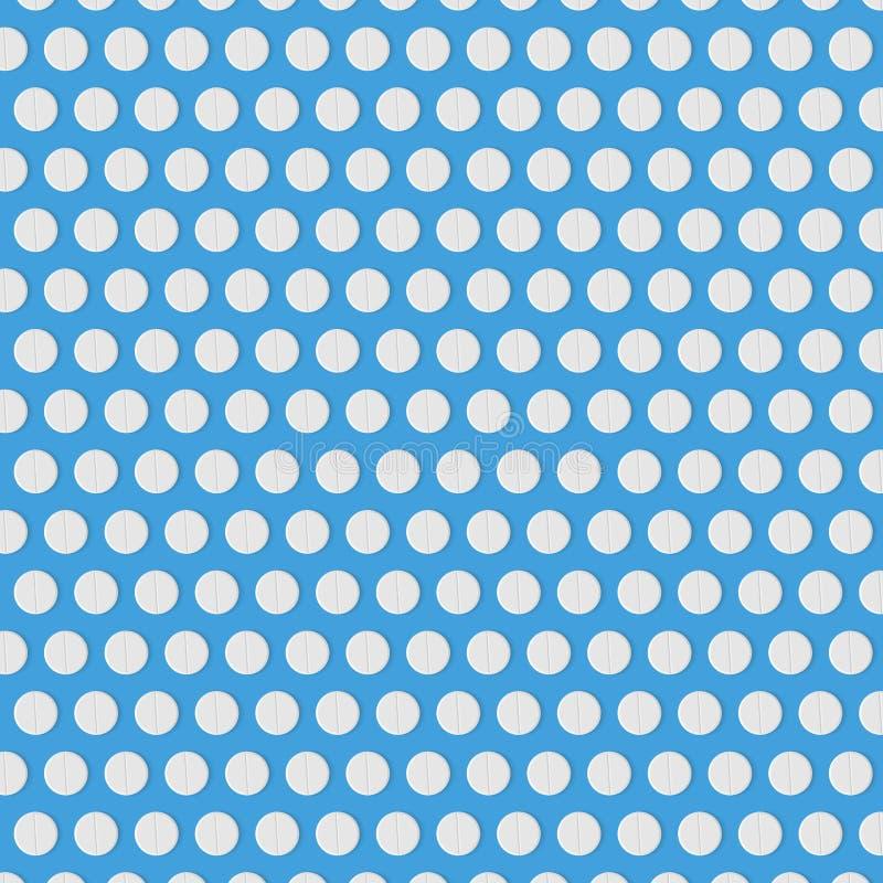 Abstrakter Hintergrund mit weißen Pillen Muster für Ihr Design lizenzfreie abbildung