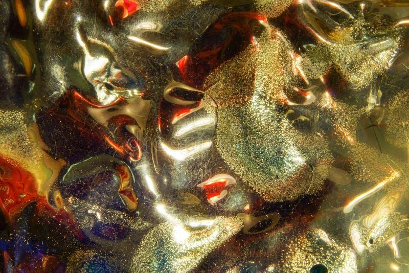 Abstrakter Hintergrund mit weichem Muster im Gold stockfoto
