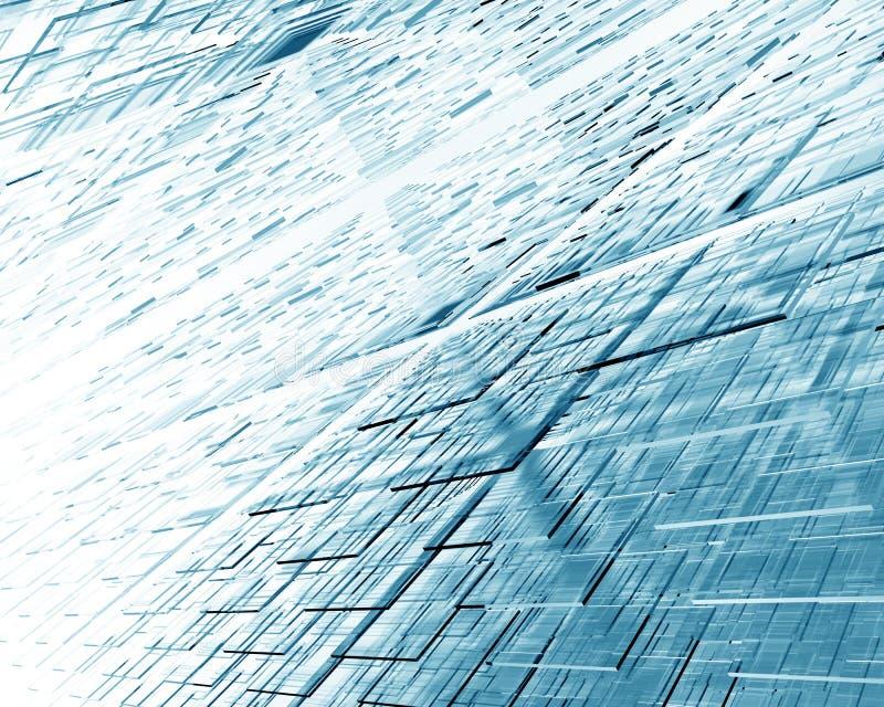 Abstrakter Hintergrund mit Zahlen von den lichtdurchlässigen Quadraten Abbildung 3D lizenzfreie abbildung