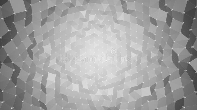Abstrakter Hintergrund - Polygonwellen lizenzfreies stockfoto