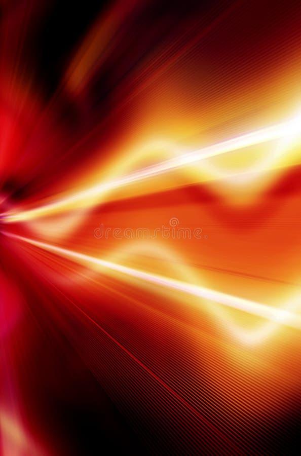 Abstrakter Hintergrund in Rotem, in Gelbem, Orange und Schwarzes stock abbildung