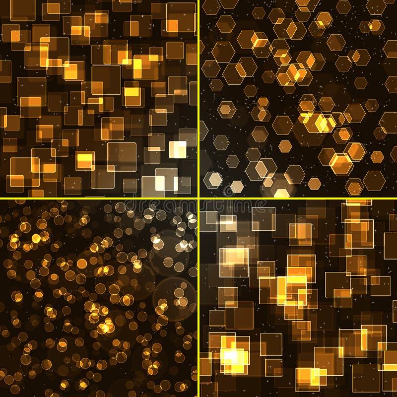 Download Abstrakter Hintergrund - Set Stock Abbildung - Illustration von bunt, hell: 12203246