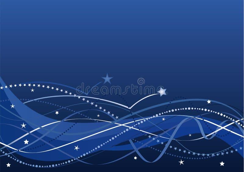 Abstrakter Hintergrund - Sterne und Wellen   stockfoto