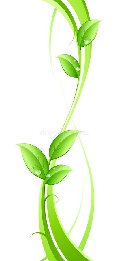 Abstrakter Hintergrund und Blätter stock abbildung